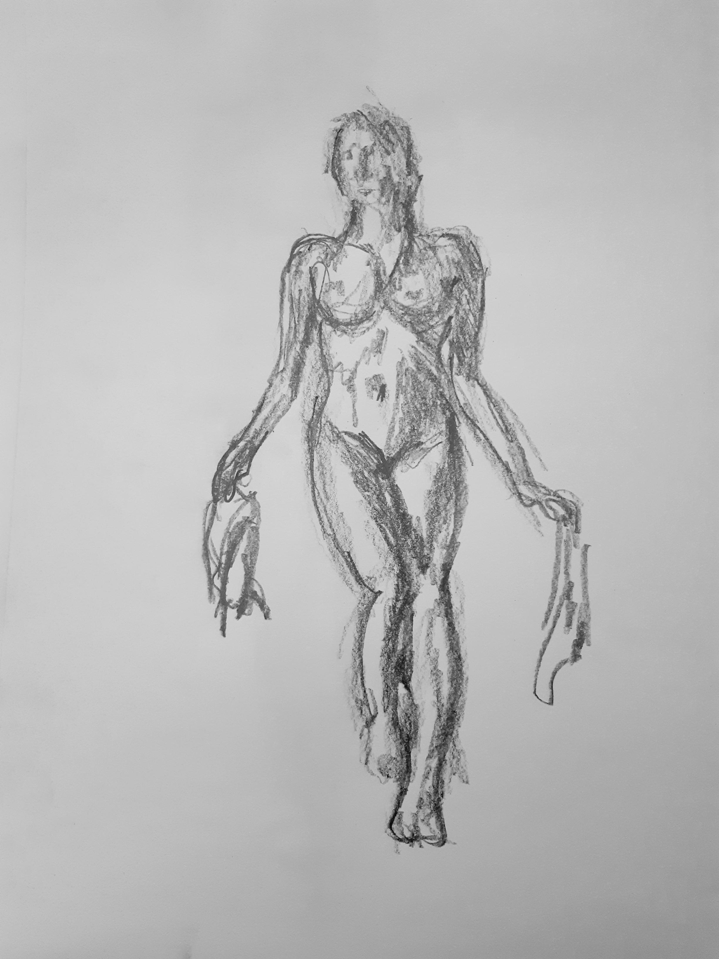 Dessin femme face graphique  cours de dessin