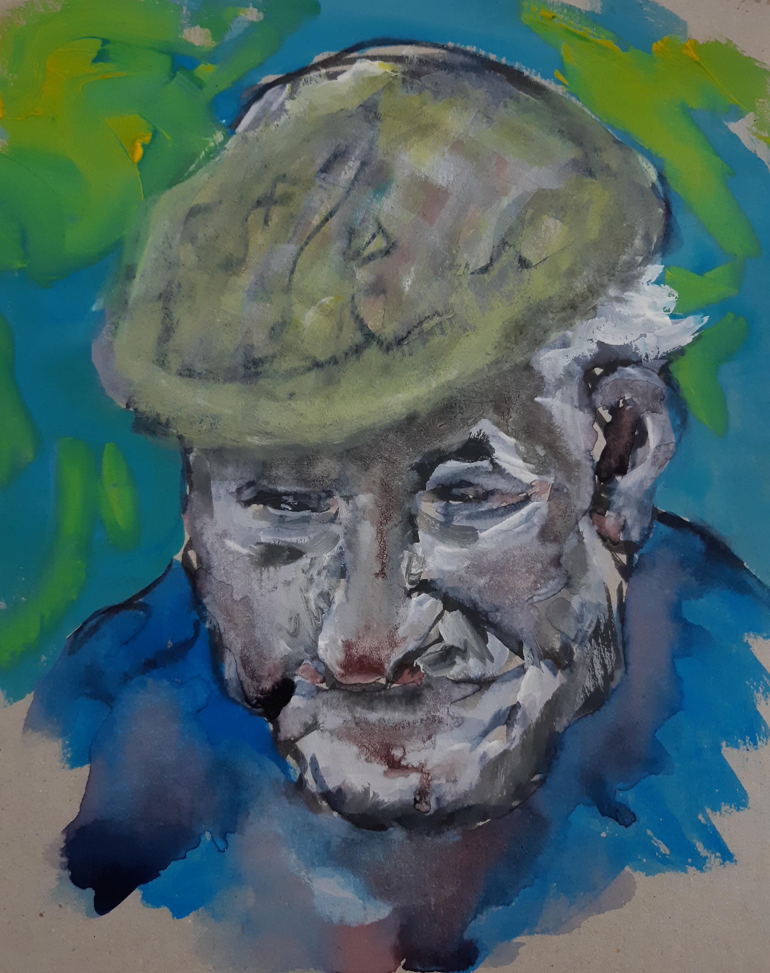 Peinture portrait polychrome acrylique  cours de dessin