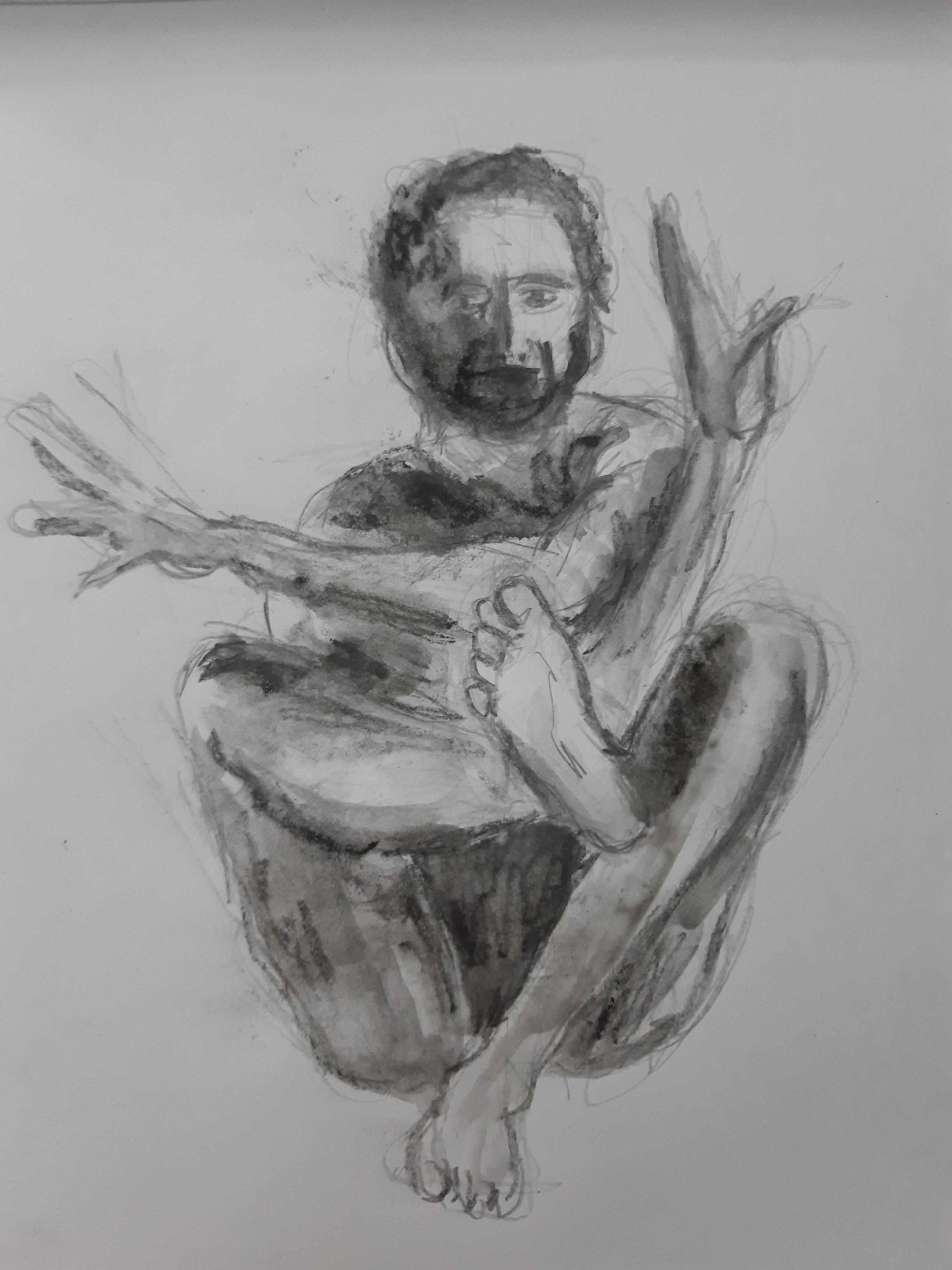 Dessin graphite et eau sur papier  cours de dessin