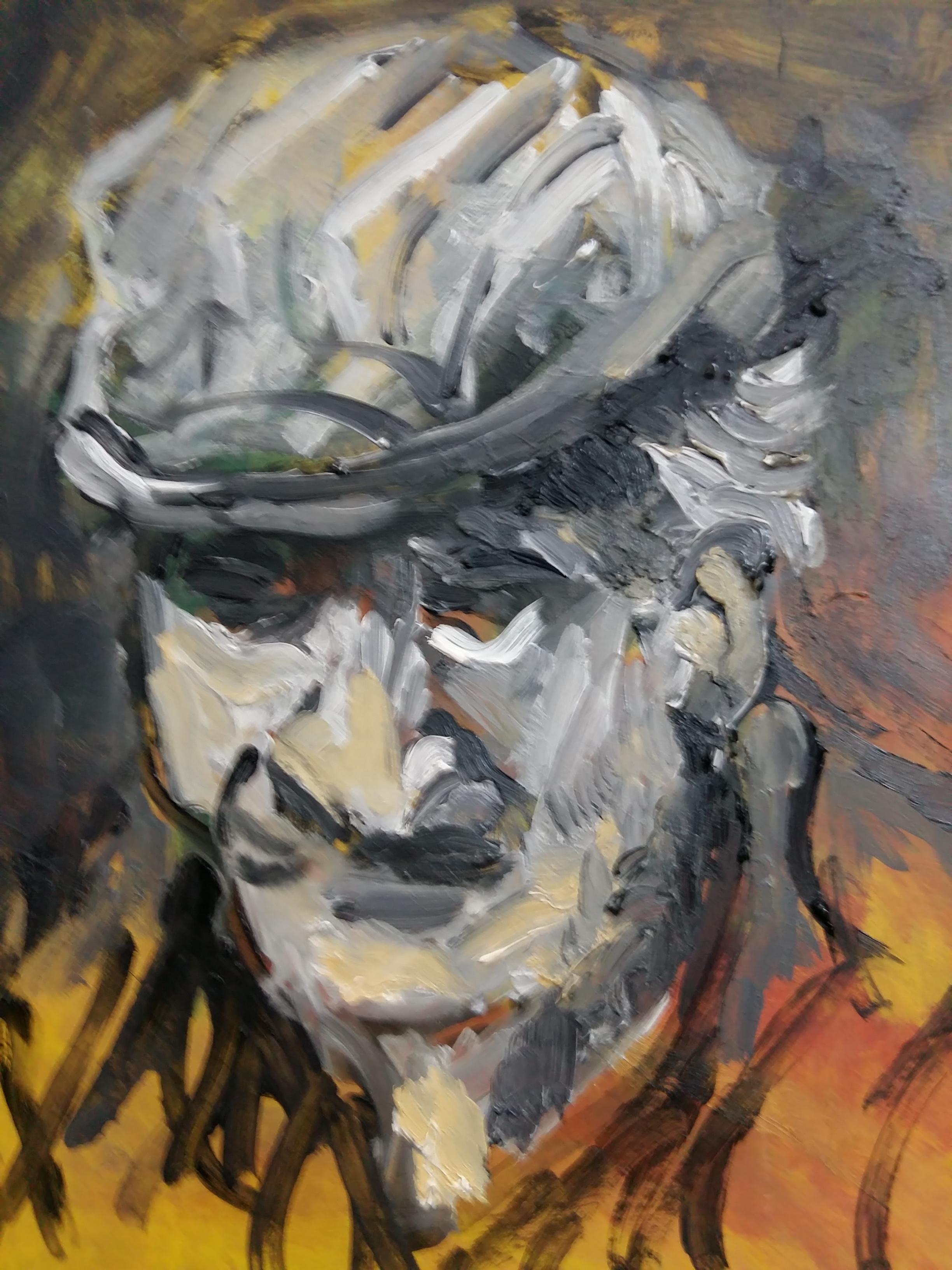 Peinture portrait gouache  cours de dessin