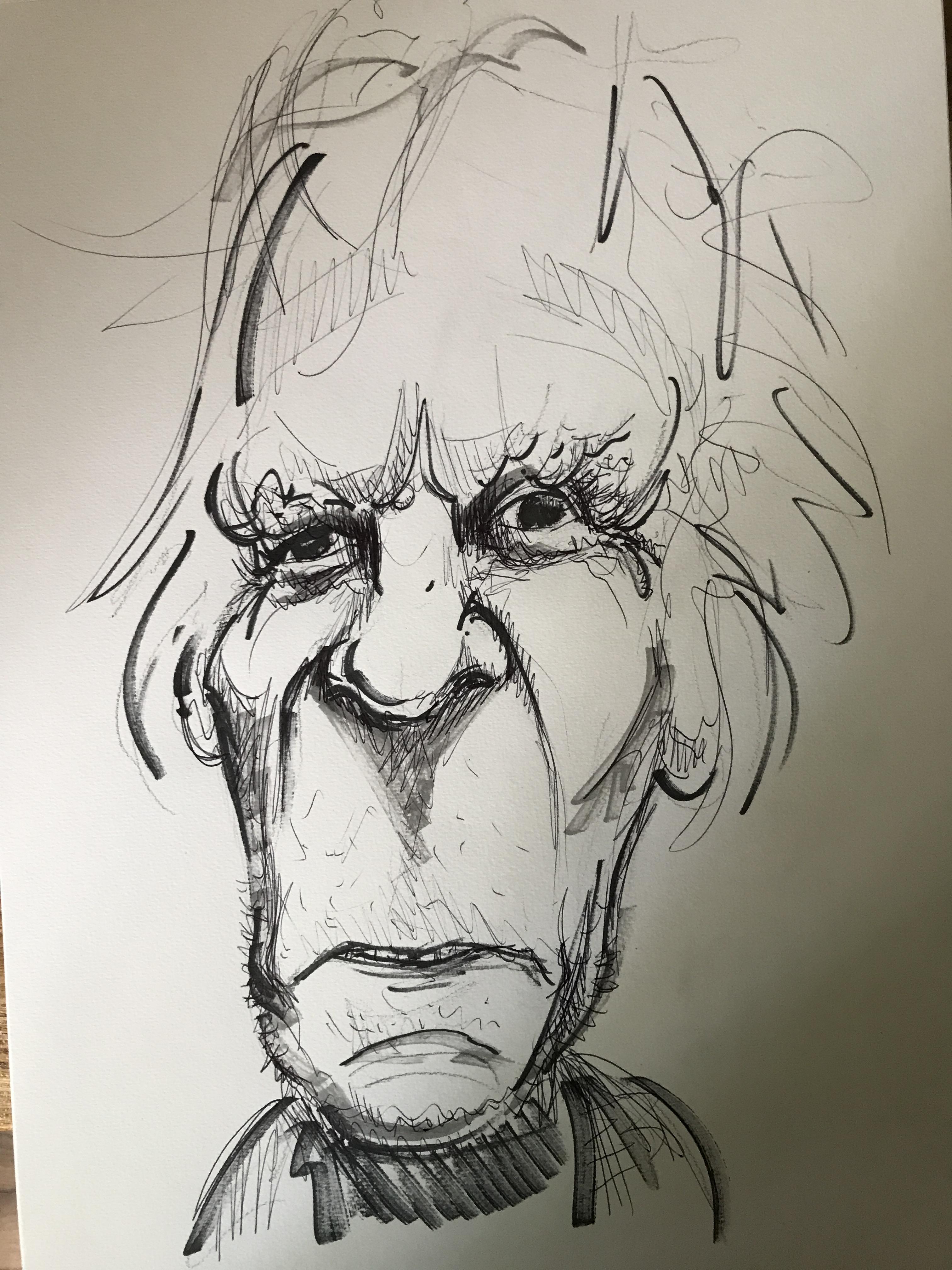 Dessin caricature portraits crayon papier feutre  cours de dessin