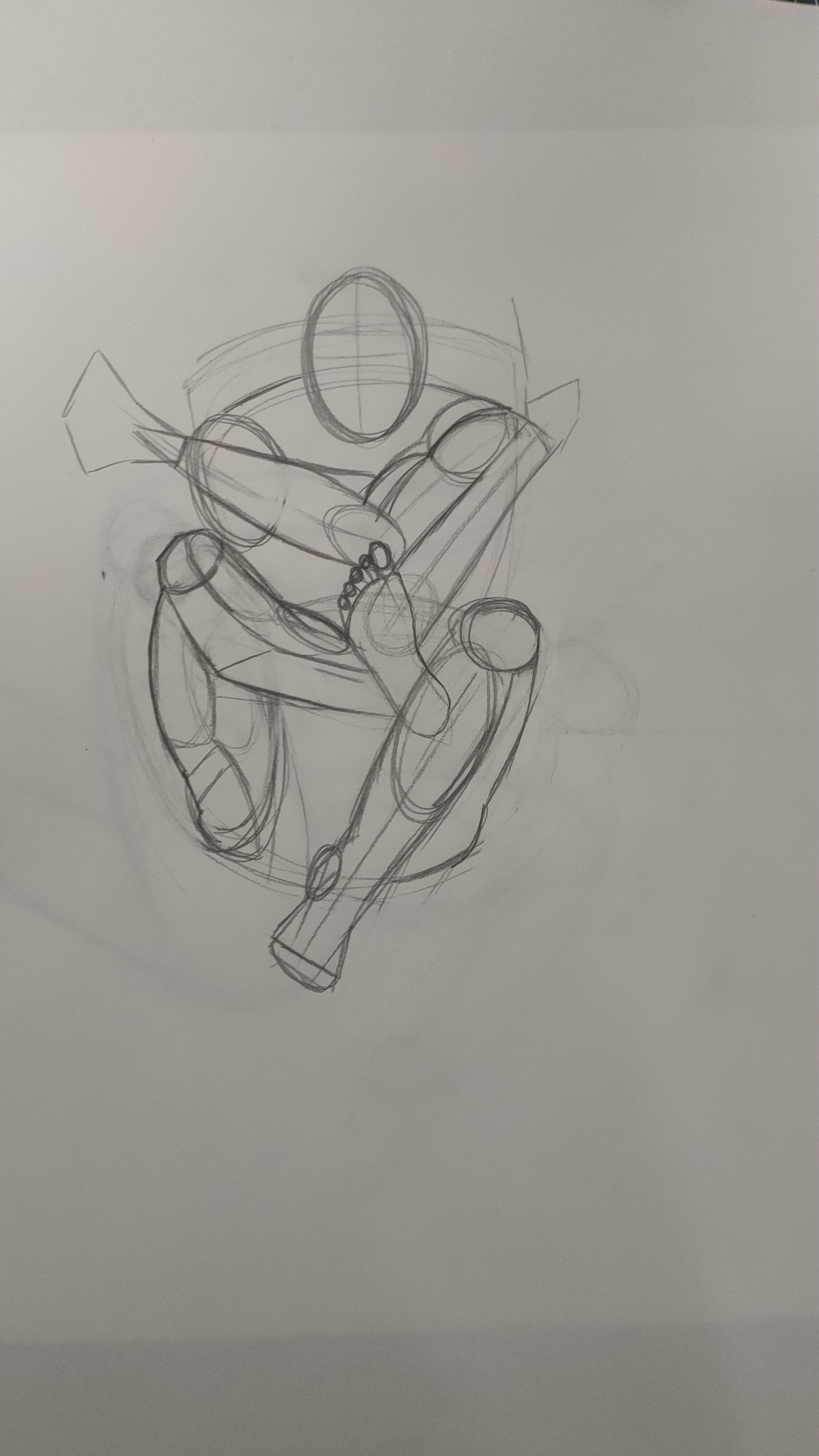 Étude anatomique corps articulation pose grouper  cours de dessin